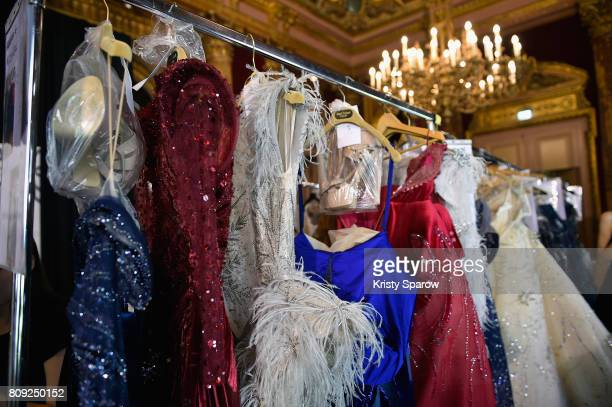 BAckstage general views of the Maison Ziad Nakad Haute Couture Fall/Winter 20172018 show as part of Haute Couture Paris Fashion Week on July 5 2017...