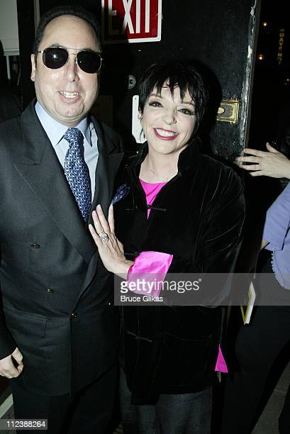 EXCLUSIVE** Backstage Liza Minnelli and husband David Gest step out for a night on Broadway seeing 'Nine' at The Eugene O'Neill Theater The show is...