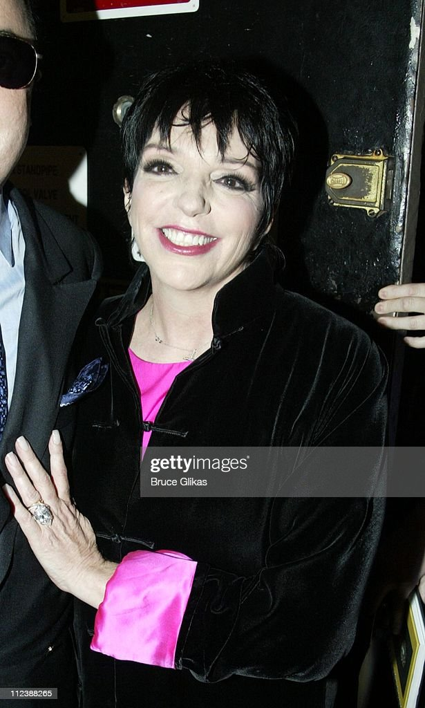 EXCLUSIVE** Backstage- <a gi-track='captionPersonalityLinkClicked' href=/galleries/search?phrase=Liza+Minnelli&family=editorial&specificpeople=121547 ng-click='$event.stopPropagation()'>Liza Minnelli</a> and husband <a gi-track='captionPersonalityLinkClicked' href=/galleries/search?phrase=David+Gest&family=editorial&specificpeople=614058 ng-click='$event.stopPropagation()'>David Gest</a> step out for a night on Broadway seeing 'Nine' at The Eugene O'Neill Theater. The show is about an Italian film director..Minnelli's father <a gi-track='captionPersonalityLinkClicked' href=/galleries/search?phrase=Vincente+Minnelli&family=editorial&specificpeople=628172 ng-click='$event.stopPropagation()'>Vincente Minnelli</a> was an Italian film director as well.