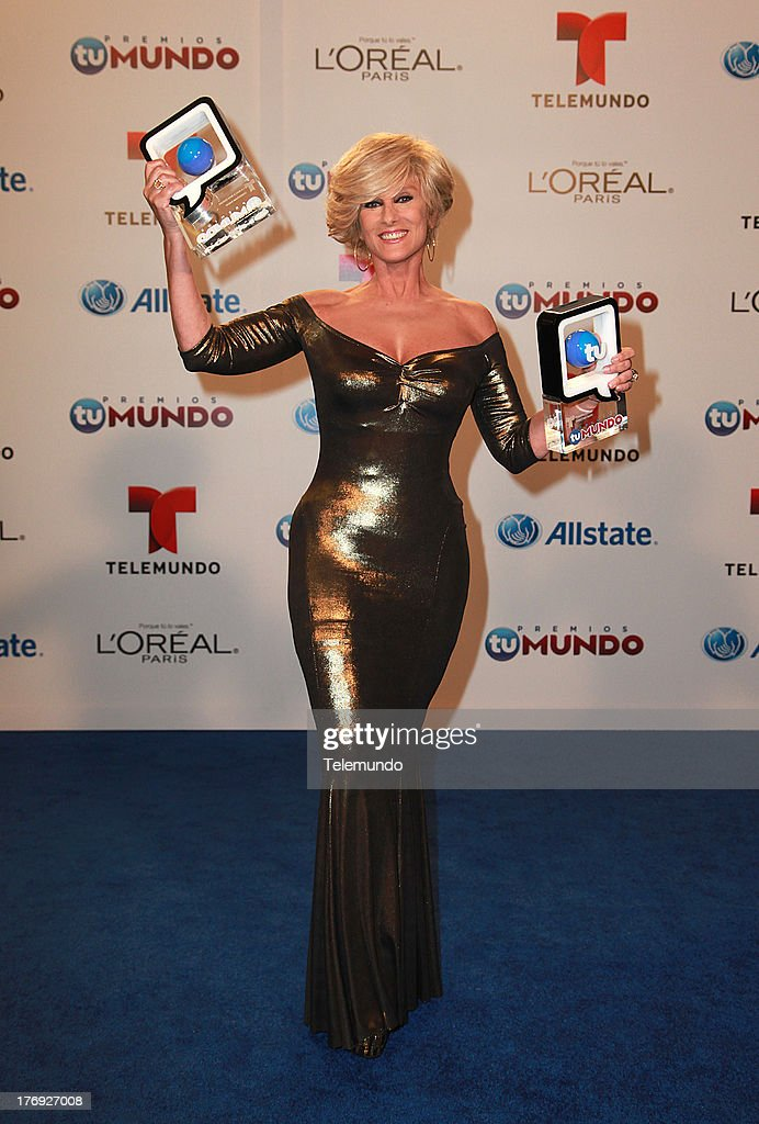 Christian Bach Backstage during the 2013 Premios Tu Mundo, from the American Airlines Arena in Miami, Florida, August 15, 2013 --