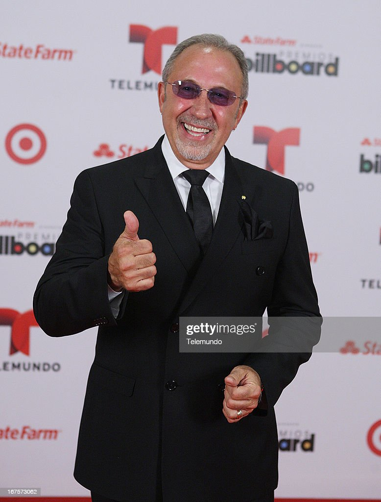 Emilio Estefan backstage during the 2013 Billboard Latin Music Awards held at the BankUnited Center, University of Miami in Miami, Florida on April 25, 2013 --