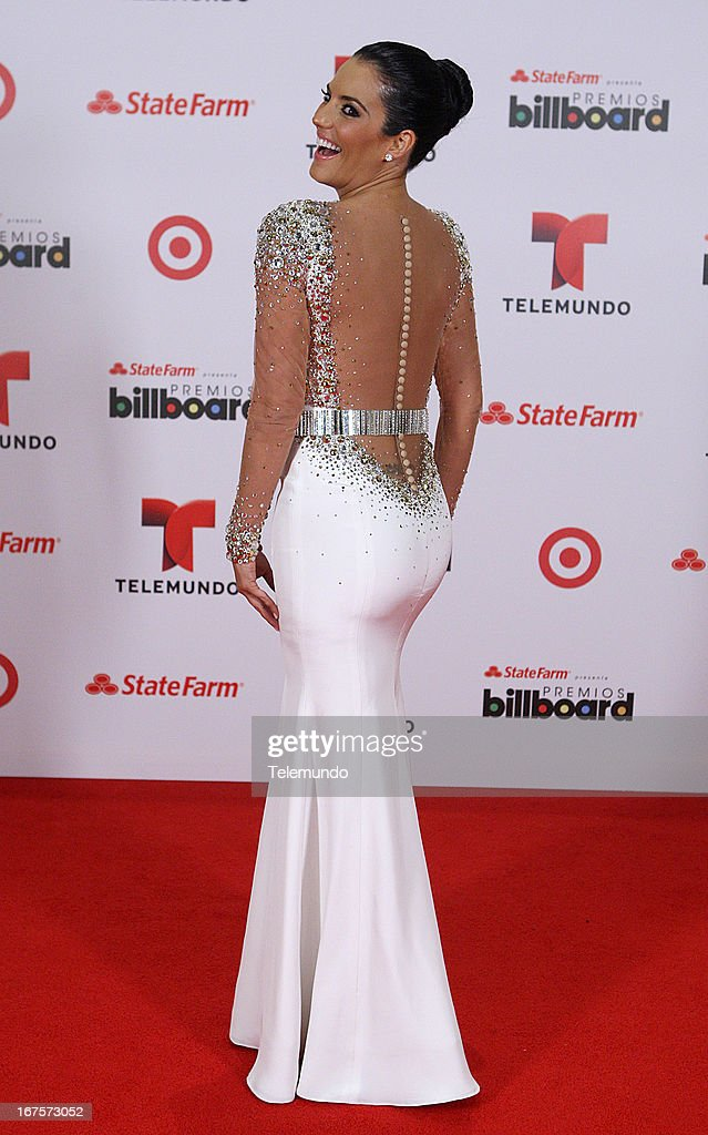 Gaby Espino backstage during the 2013 Billboard Latin Music Awards held at the BankUnited Center, University of Miami in Miami, Florida on April 25, 2013 --