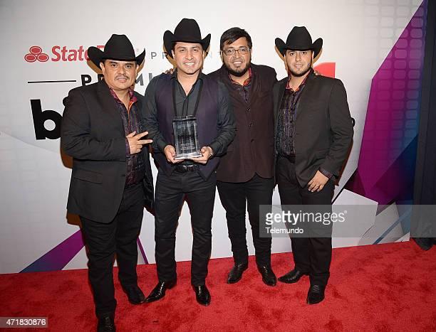 Julion Alvarez Y Su Norteno Banda backstage during the 2015 Billboard Latin Music Awards from Miami Florida at BankUnited Center University of Miami...
