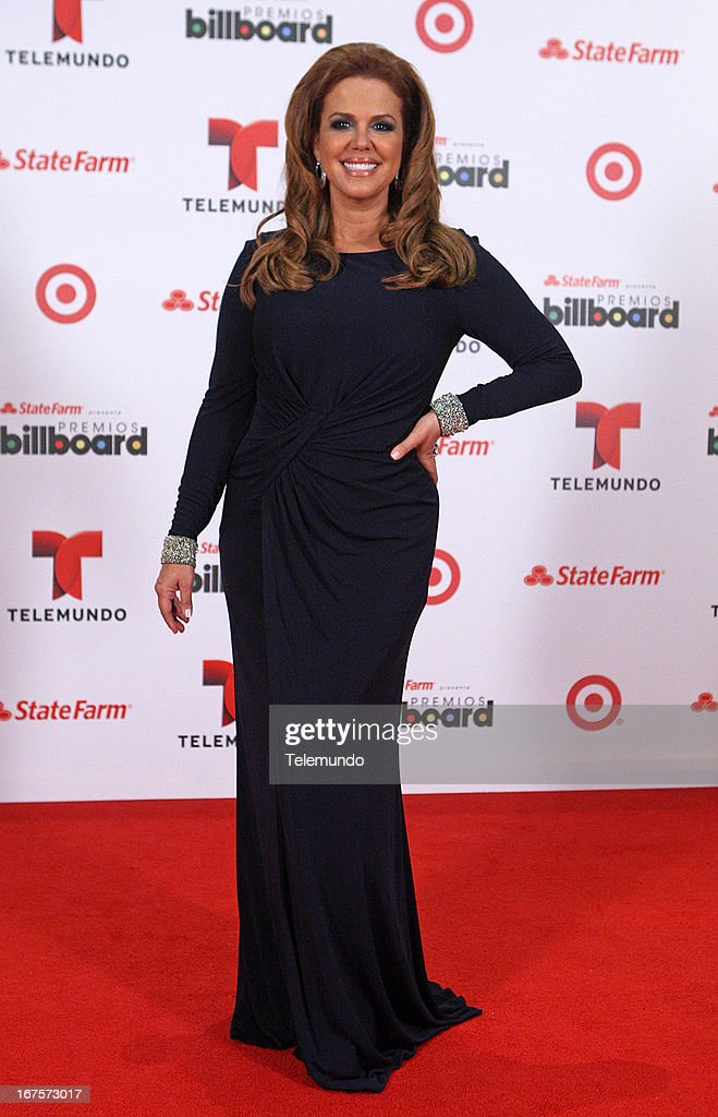 Maria Celeste Arraras backstage during the 2013 Billboard Latin Music Awards held at the BankUnited Center, University of Miami in Miami, Florida on April 25, 2013 --