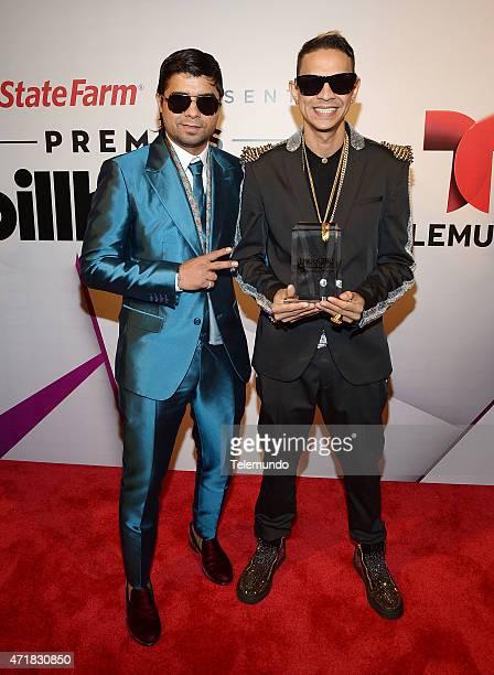 Plan B backstage during the 2015 Billboard Latin Music Awards from Miami Florida at BankUnited Center University of Miami on April 30 2015 PREMIOS...