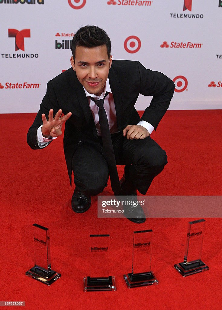 Prince Royce backstage during the 2013 Billboard Latin Music Awards held at the BankUnited Center, University of Miami in Miami, Florida on April 25, 2013 --
