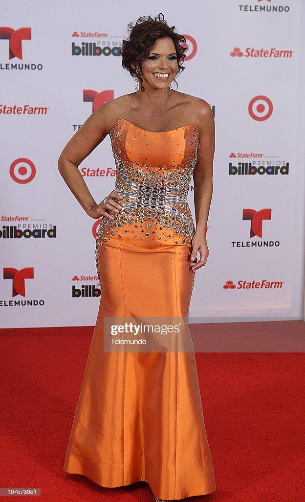 Rashel Diaz backstage during the 2013 Billboard Latin Music Awards held at the BankUnited Center, University of Miami in Miami, Florida on April 25, 2013 --