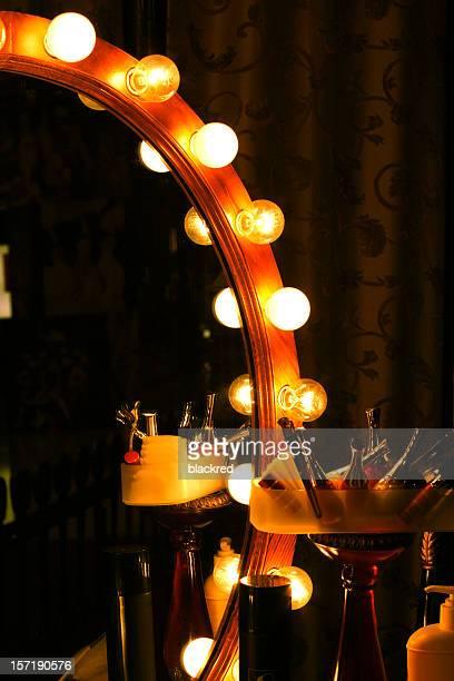 Ampoule miroir rétro en coulisses