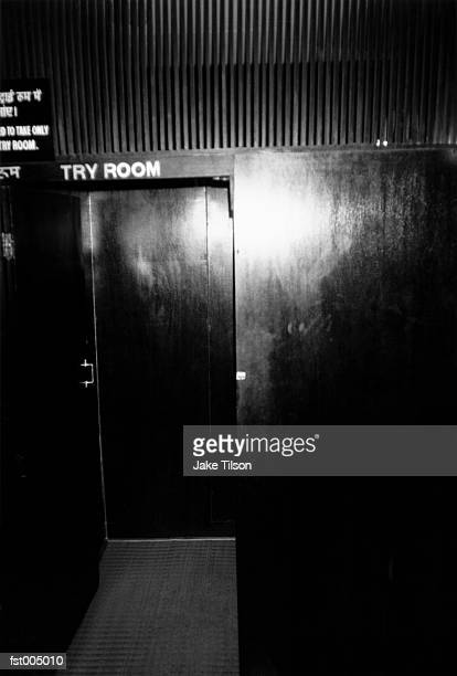 A backstage theatre door