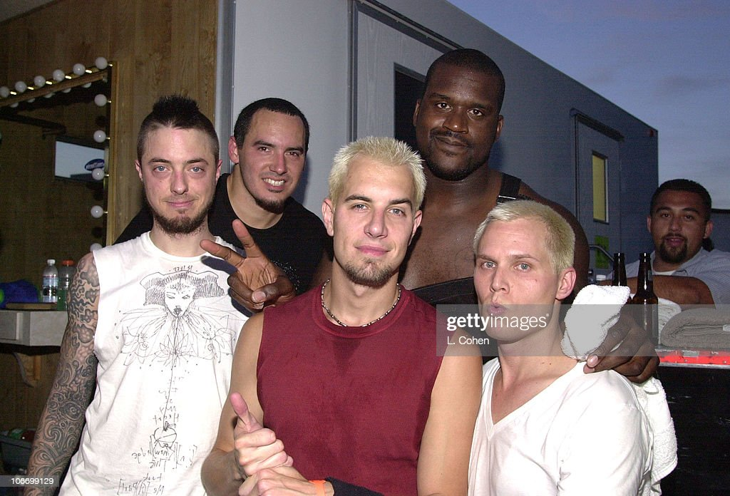 SHAQ backstage with 311 during 9th Annual KROQ Weenie Roast at Verizon Amphitheater in Irvine, California, United States.