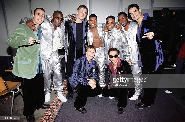 Backstreet Boys and Blackstreet during 1997 MTV Europe Music Awards in Los Angeles California United States