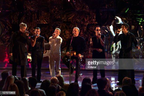 Backstreet Boys and Sting during VH1 Men Strike Back at Madison Square Garden in New York City New York United States