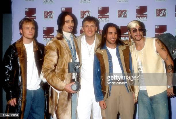 Backstreet Boys attending the Europe MTV Video Music Awards in Stockholm 11/17/00
