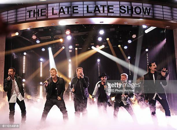Backstreet Boys perform during 'The Late Late Show with James Corden' Tuesday Sept 27 On The CBS Television Network