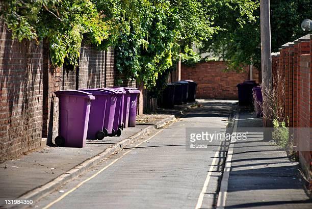 Poubelles Backstreet avec les poubelles