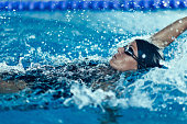 Backstroke swimming professional