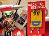 Backtoschool signs are displayed in a Target store August 29 2006 in Chicago Illinois Public schools in Chicago are set to open September 5