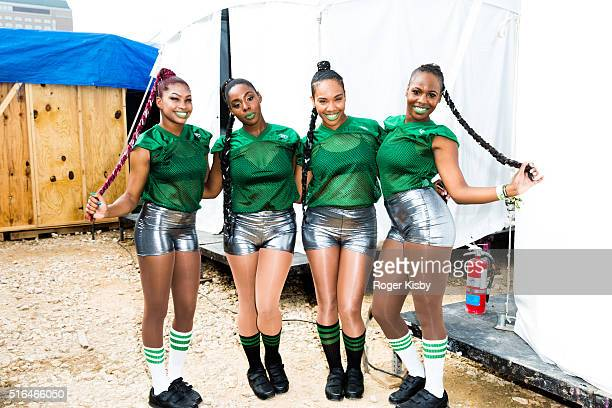 Backup dancers for Davido wait backstage at the FADER FORT presented by Converse during SXSW on March 18 2016 in Austin Texas