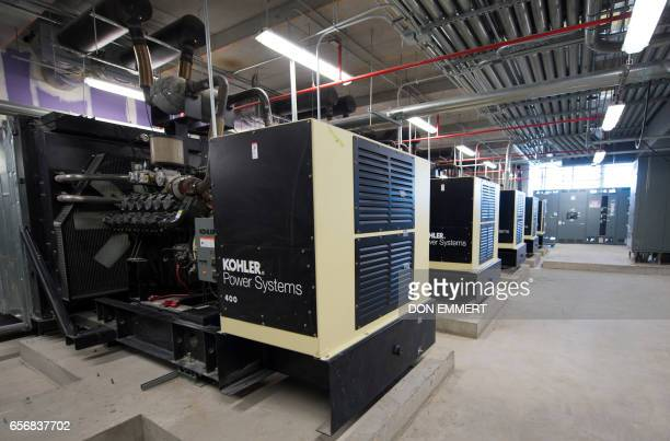 Backup generators are seen inside the American Copper Building at 626 First Avenue March 17 2017 in New York The building is a dualtower residential...