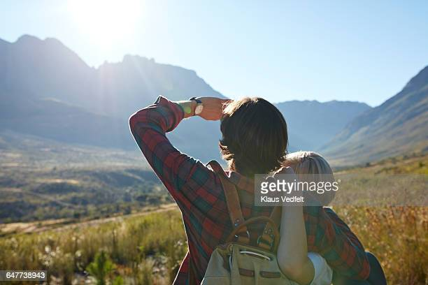 Backview of couple enjoying the view