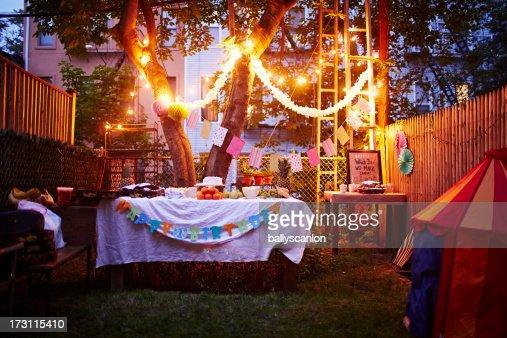 Backyard birthday party in ihe city