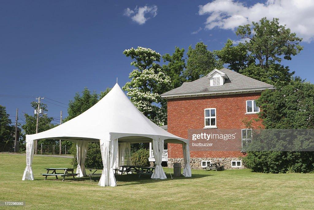 Backyard Celebration Tent : Stock Photo