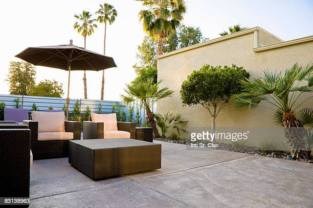 Backyard Patio of House