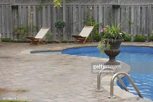 Jardin de la piscine