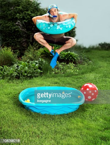 backyard vacations stock photo getty images