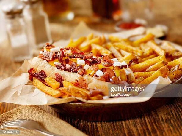 Bacon and Cheese Dog with Fries