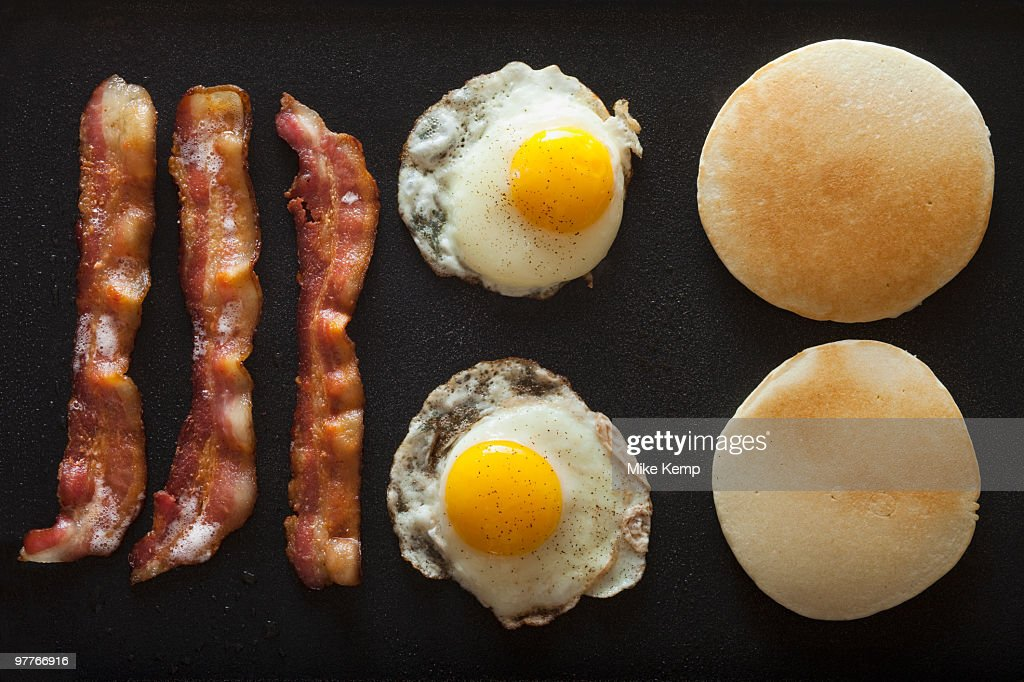 Bacon and eggs : Stock Photo
