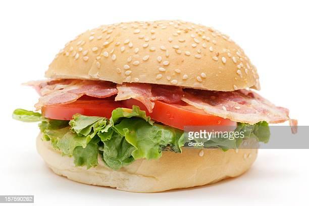 sandwich bacon, laitue et tomate au fromage