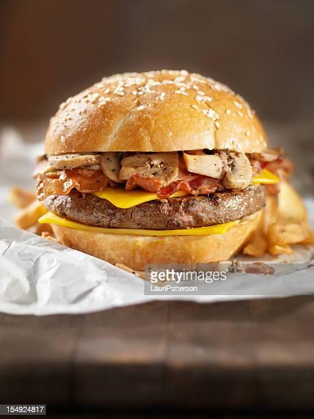Bacon Mushroom Cheeseburger