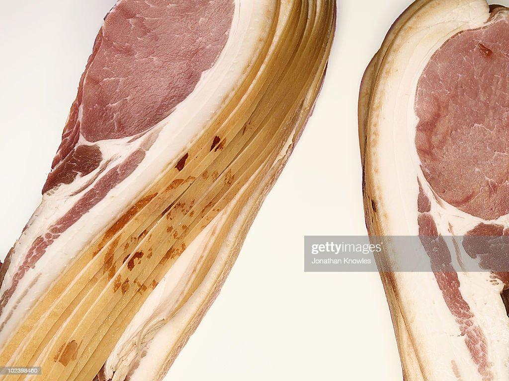 Bacon rashers : Stock Photo