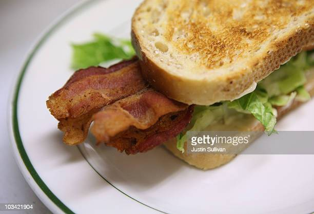 A bacon sandwich is seen before being served at Rico's Diner August 17 2010 in Oakland California As Americans consume more bacon supplies have...