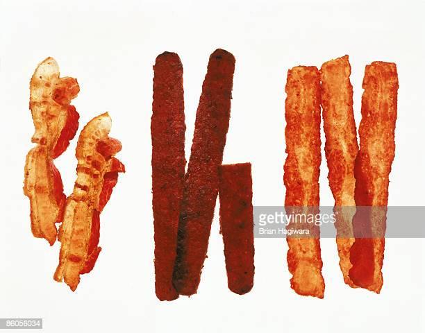 Bacon , turkey bacon , and soy bacon