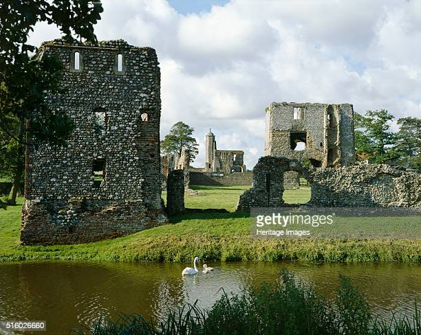 Baconsthorpe Castle Norfolk c2000s General view of the 15th century fortified manor house from the lake Artist Unknown