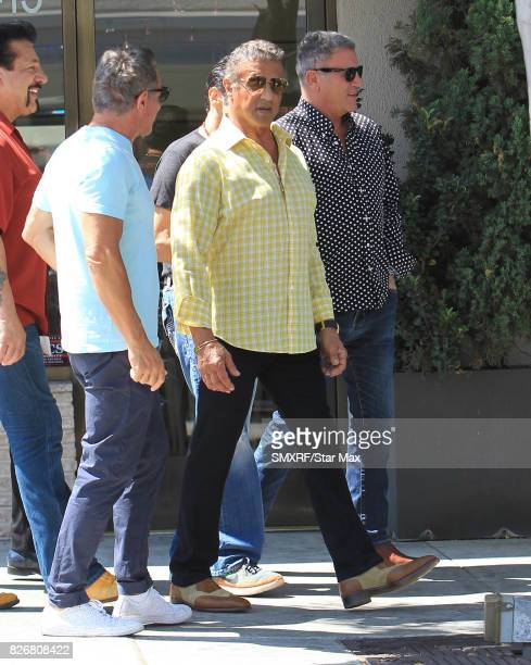 BActor Sylvester Stallone is seen on August 5 2017 in Los Angeles California