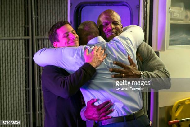 NINE 'Bad Beat' Episode 505 Pictured Andy Samberg as Jake Peralta Terry Crews as Terry Jeffords