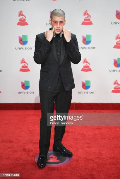 Bad Bunny attends the 18th Annual Latin Grammy Awards at MGM Grand Garden Arena on November 16 2017 in Las Vegas Nevada