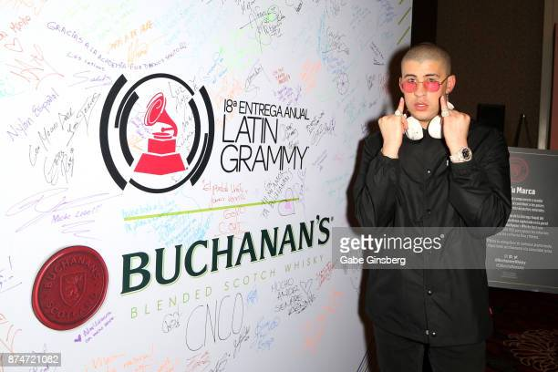 Bad Bunny attends the gift lounge during the 18th annual Latin Grammy Awards at MGM Grand Garden Arena on November 15 2017 in Las Vegas Nevada