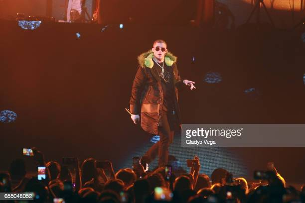 Bad Bunny performs as part of J Balvin Concert at Coliseo Jose M Agrelot on March 18 2017 in San Juan Puerto Rico