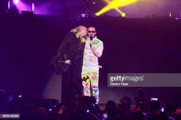 Bad Bunny performs with J Balvin as part of J Balvin Concert at Coliseo Jose M Agrelot on March 18 2017 in San Juan Puerto Rico