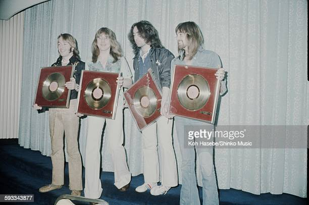 Bad Company holding gold disc Tokyo March 1975