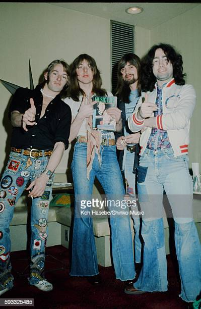 Bad Company photo session at a hotel in Tokyo March 1975