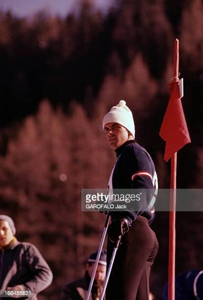 Bad Gastein Alpine Ski World Championships Tony Sailer Bad Gastein Championnats du monde de ski alpin février 1958 Portrait de Tony SAILER skieur...