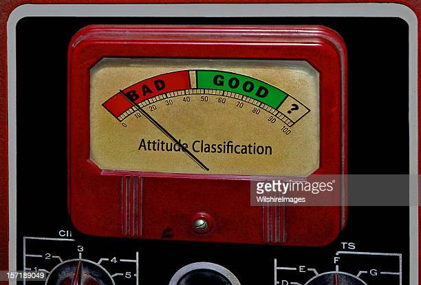 Bad Good Attitude Classification Meter: Stubborness or Enthusiasm, Effort, Initiative