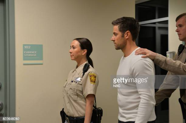 MIDNIGHT TEXAS 'Bad Moon Rising' Episode 102 Pictured Lora MartinezCunningham as Officer Tina Gomez Dylan Bruce as Bobo