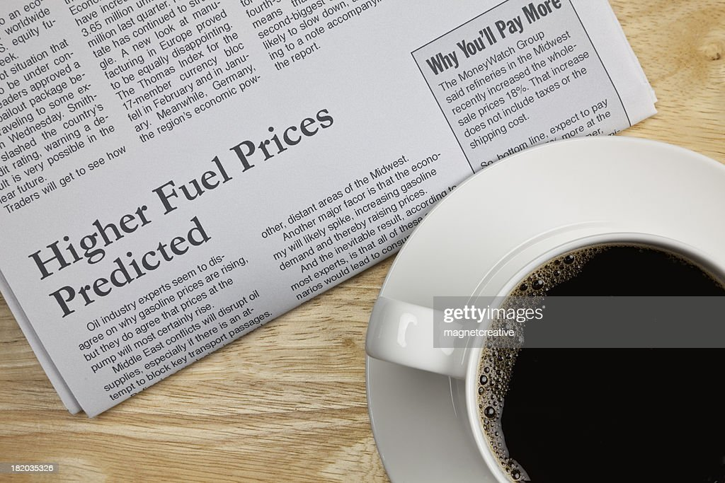 Bad News About High Fuel Prices : Stock Photo