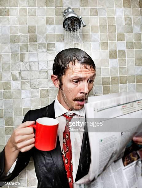 Schlechte Nachricht in der Dusche